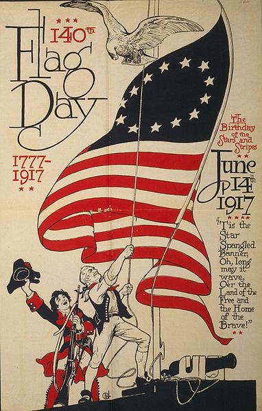 cat flag day poster