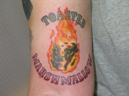 Flaming_marshmallow_tattoo_by_Reddsky