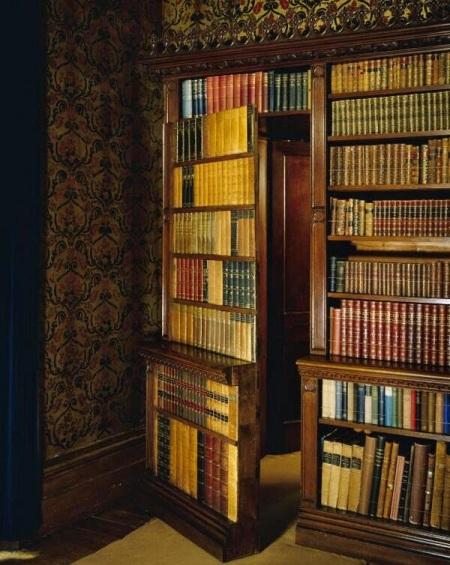 hidden doorway bookcase