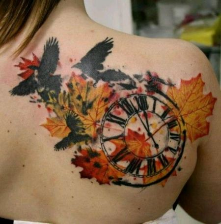 autumn leaf tattoo