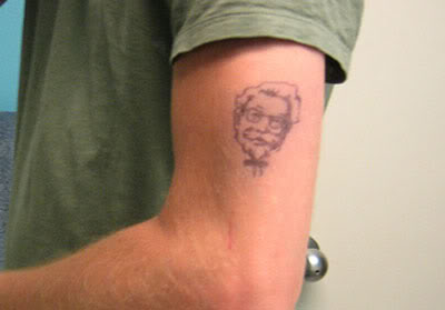 col sanders tattoo