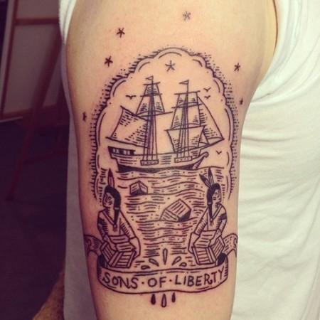 boston tea party tattoo