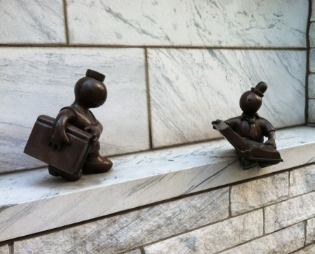 bronze figures