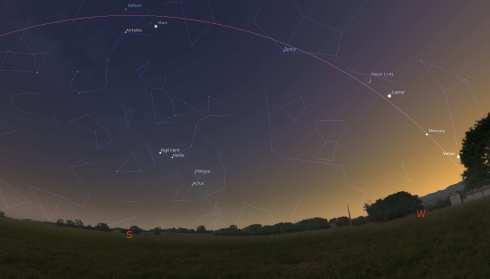 A-rare-5-planets-alignment-1